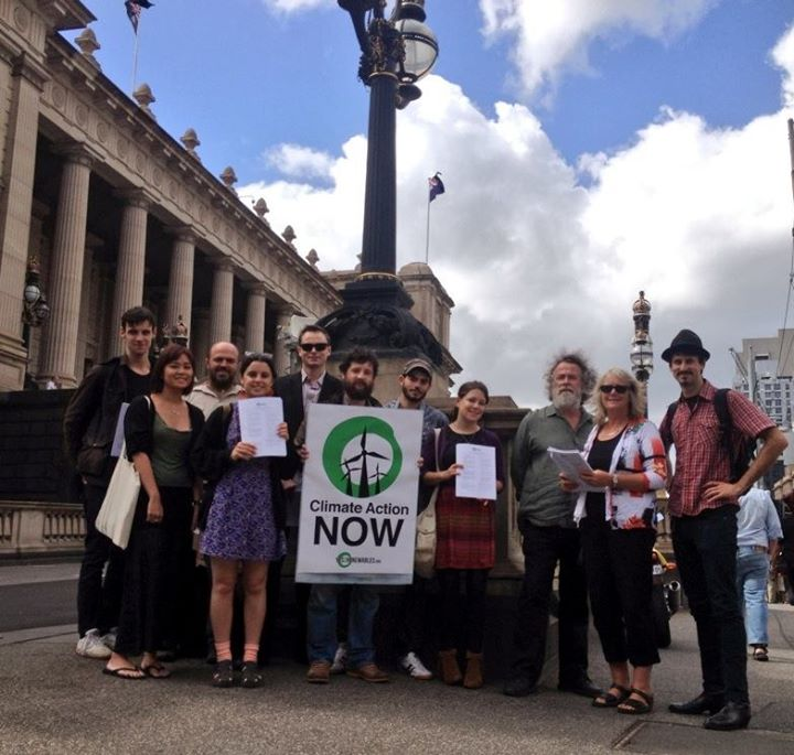 Yes 2 Renewables at Victoria Parliament