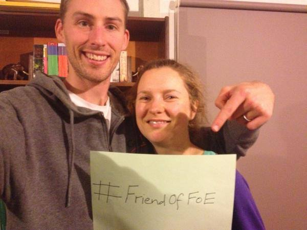 Take your picture and put it up on Social Media #FriendofFoE