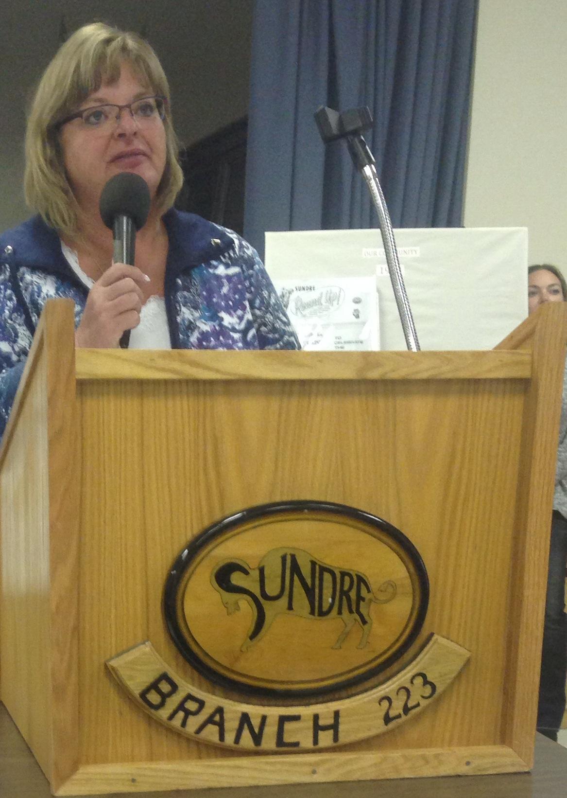 AUPE Vice-President Karen Weiers