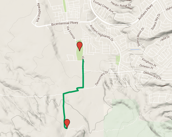 Map of Sloan Canyon Access