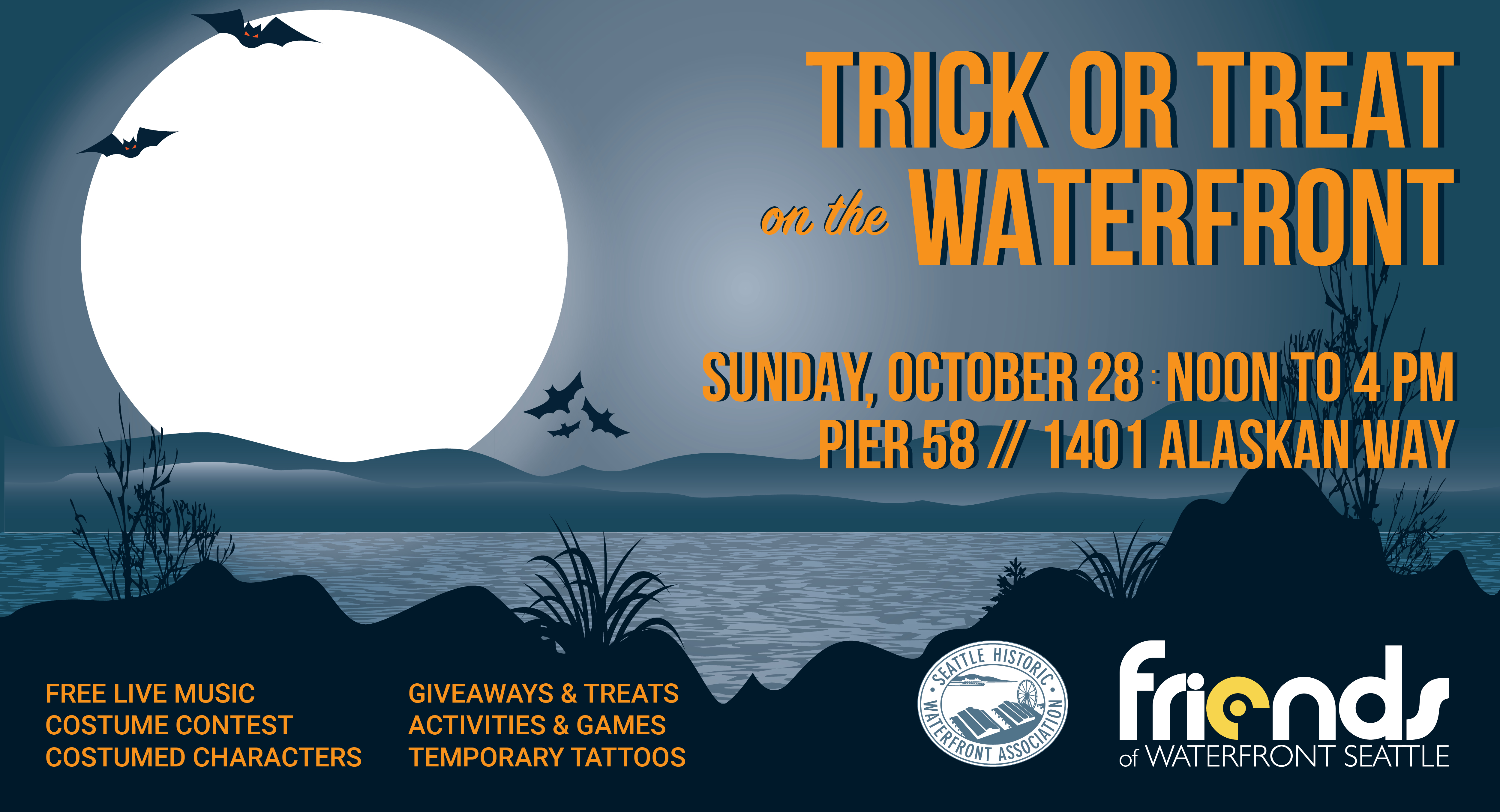 trick or treat on the waterfront - friends of waterfront seattle