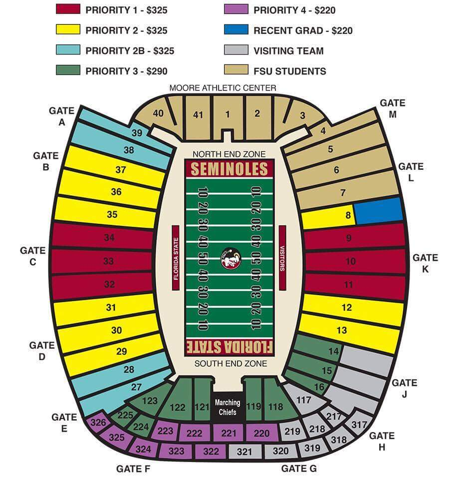 FSU Seating Map