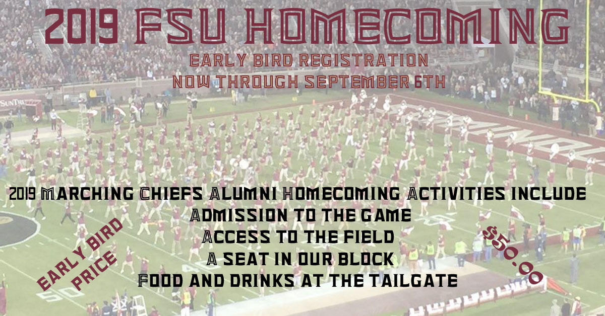 FSUMCA Homecoming Early BIrd Registration Announcement