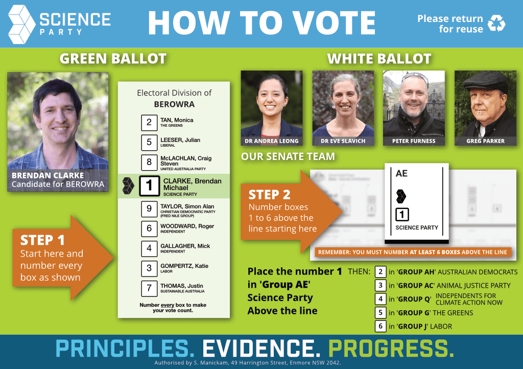 How to vote Science in Berowra
