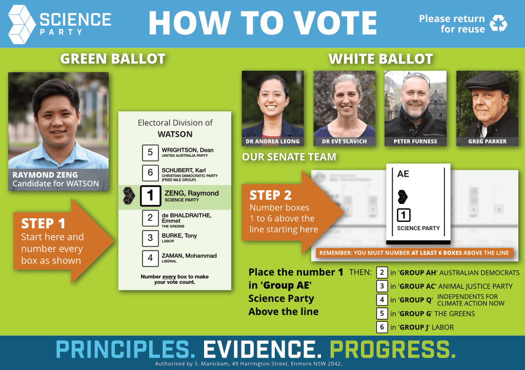 How to vote Science in Watson