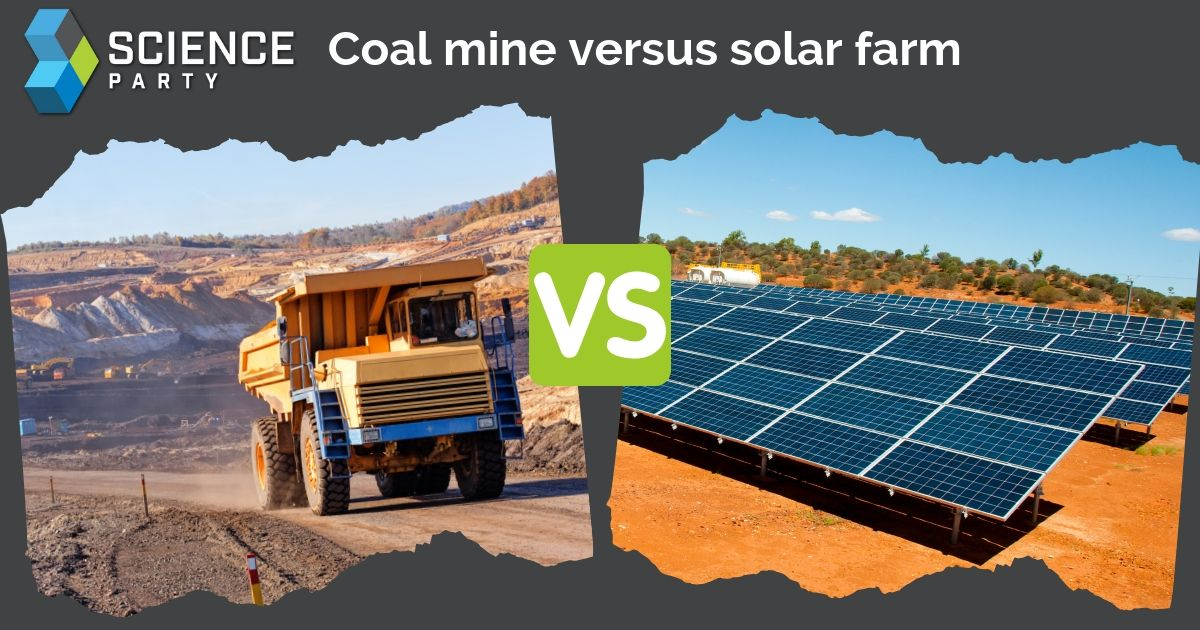 Coal Mine vs Solar Farm