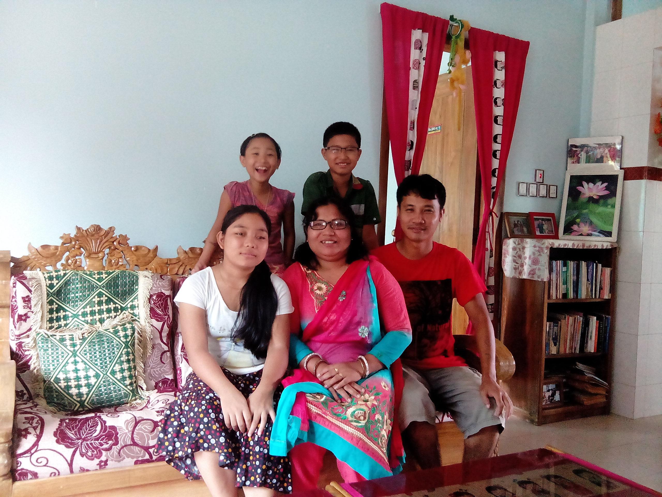 Samiran Chakma family