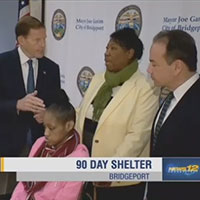 Mayor Joe Ganim Helps Woman Facing Homelessness To Find Emergency Shelter