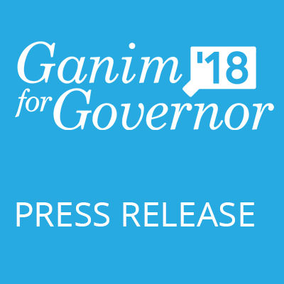 Ganim Launches Statewide Grassroots Petition Drive, In Addition To Pursing 15% Of Democratic Delegates, As Part Of Two-Track Approach To Get On Primary Ballot
