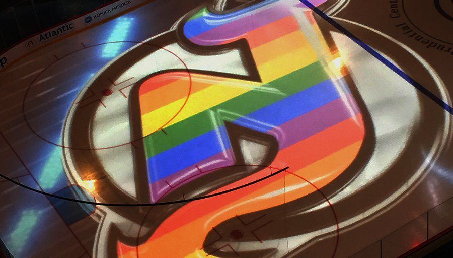 promo code 9565d ed1f3 Newark Gay Pride Outing - New Jersey Devils Pride Night ...