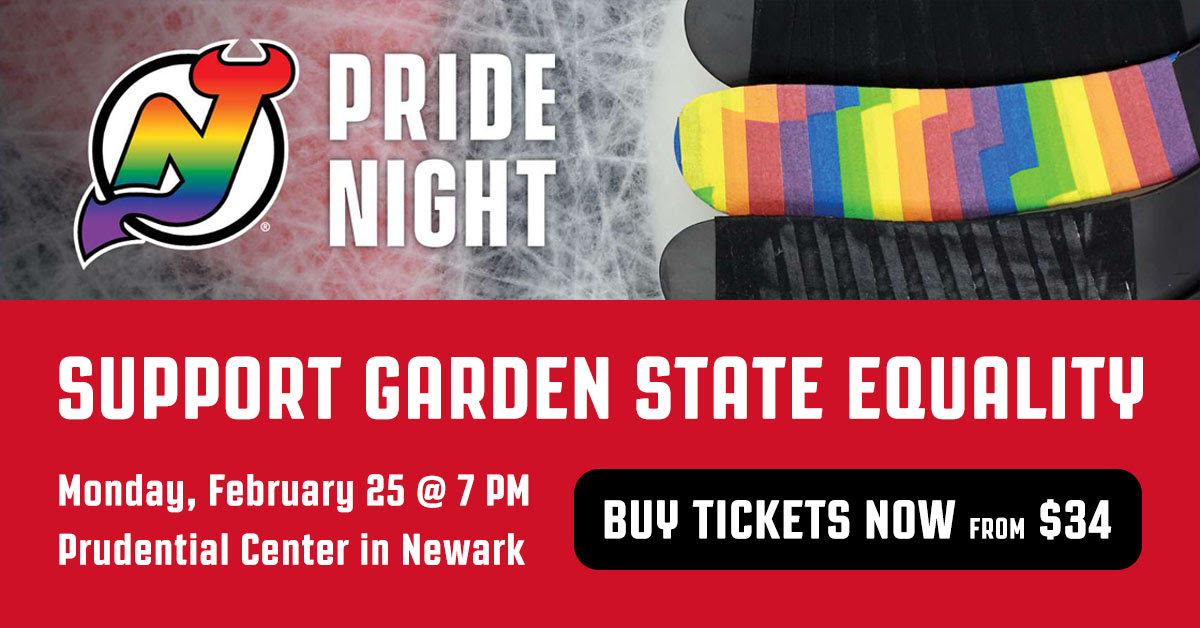 quality design cd428 15a3f Pride Night with the New Jersey Devils - Garden State Equality