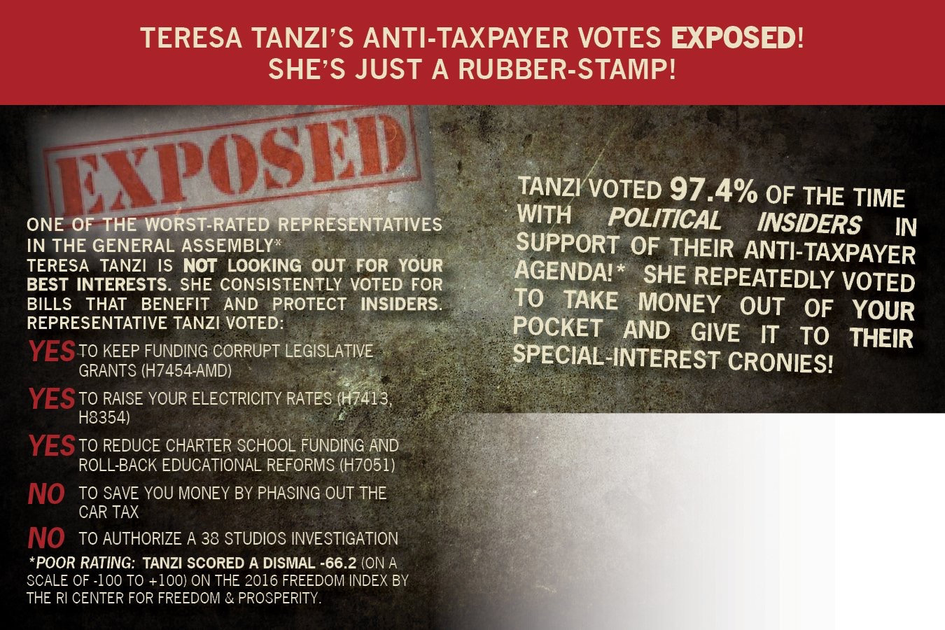 Teresa Tanzi RI House of Representatives anti-business