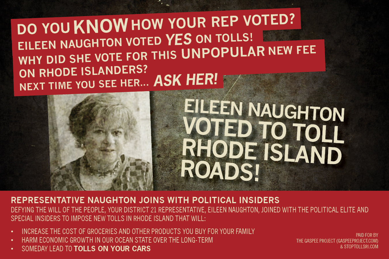 Eileen Naughton Ousted Out of the Rhode Island General Assebly
