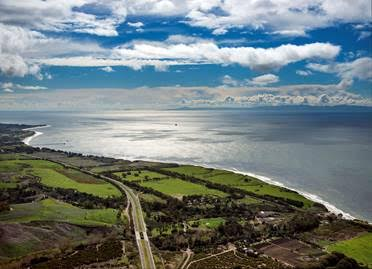 Aerial of Gaviota Coast by Bill Dewey