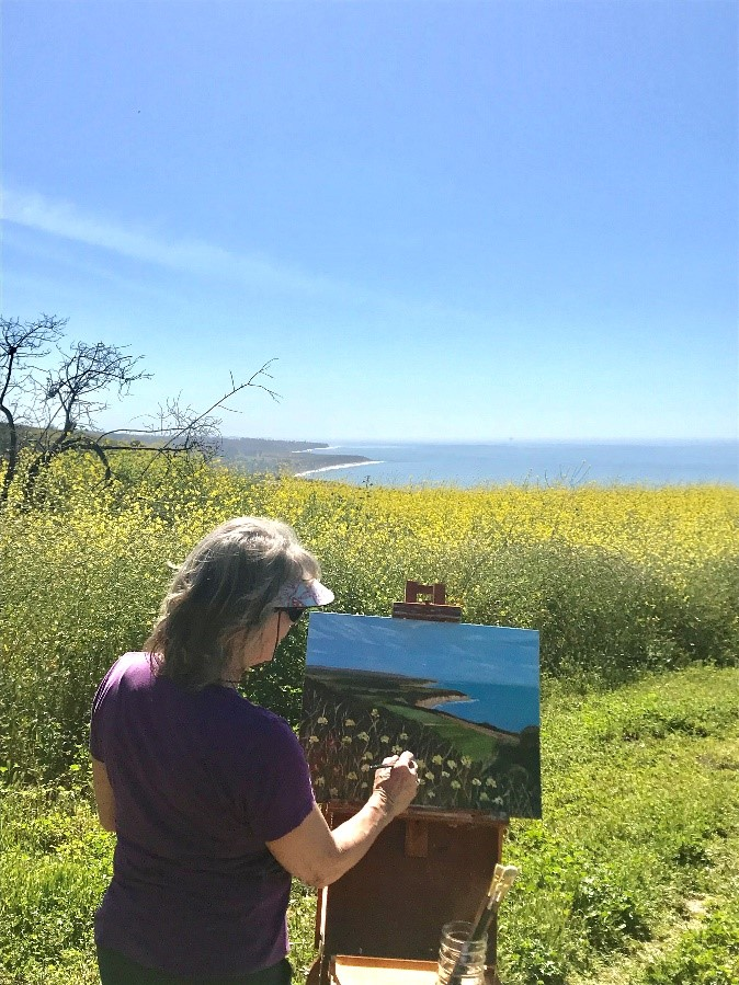 Painting up on the Bill Wallace Trail
