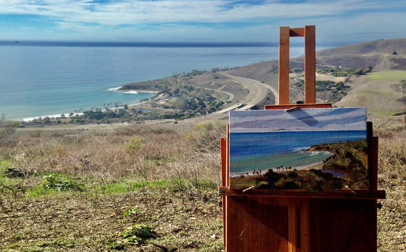 View of Refugio State Beach from Orella Ranch
