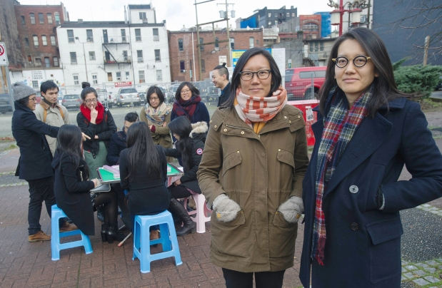 Doris Chow (left) and her sister June Chow co-founded the Youth Collaborative for Chinatown and have been holding monthly mah-jong social events that bring together senior citizens with hipsters over the poker-like game. Photograph by: Jason Payne , VANCOUVER SUN