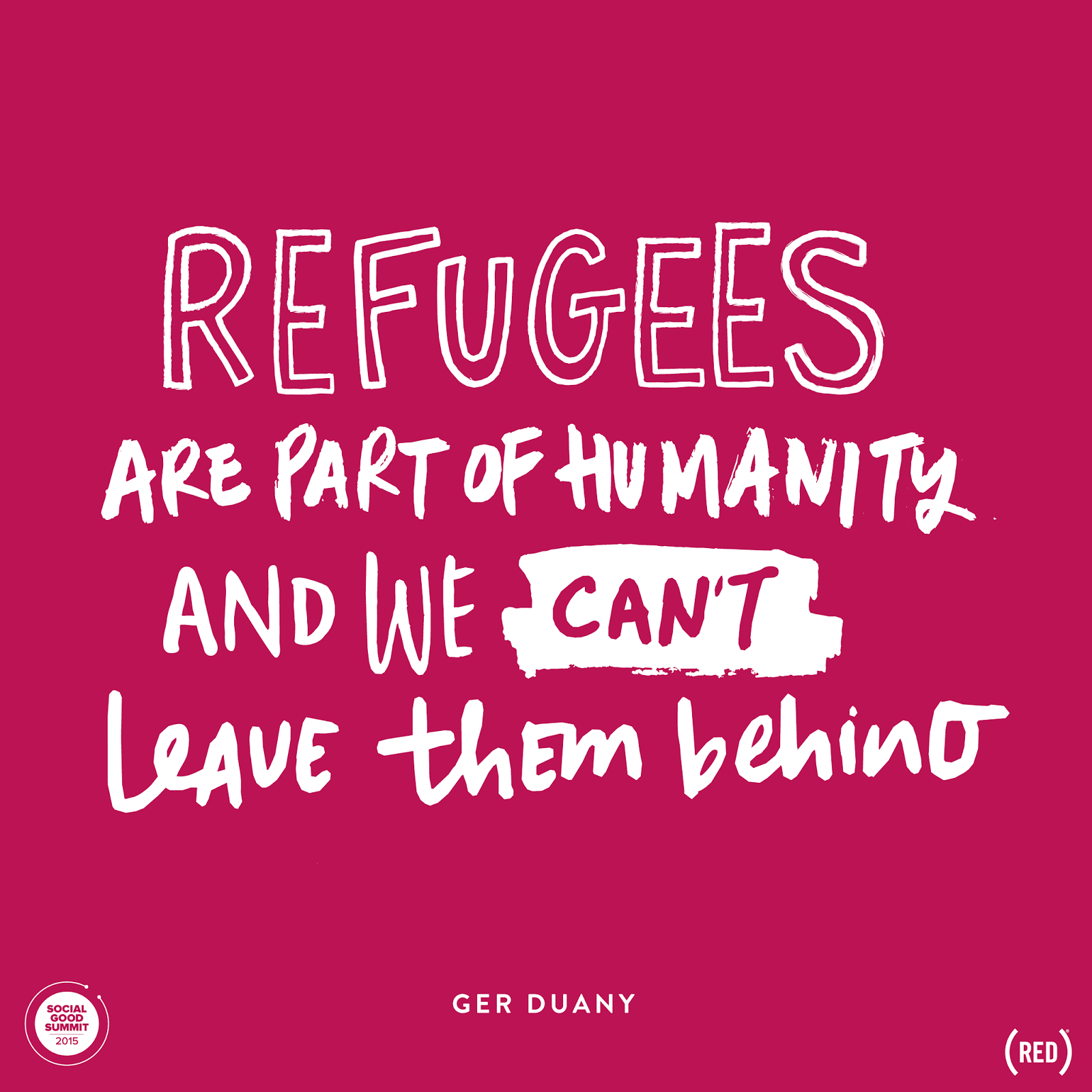 Refugee Quotes Fascinating Refugees The Top Story Of The Summit  Genun