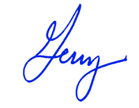 Gerry Brisson's signature