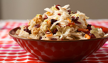 Cranberry Walnut Coleslaw