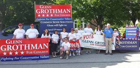Glenn Grothman and volunteers.