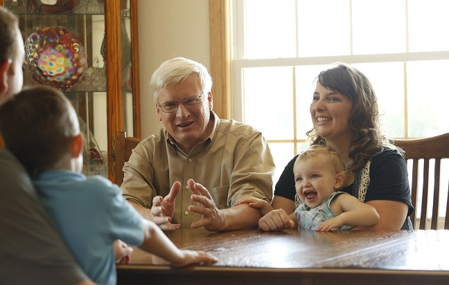 Glenn Grothman and a Wisconsin family.