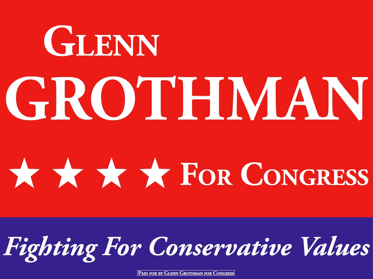 Glenn Grothman for Congress sign.