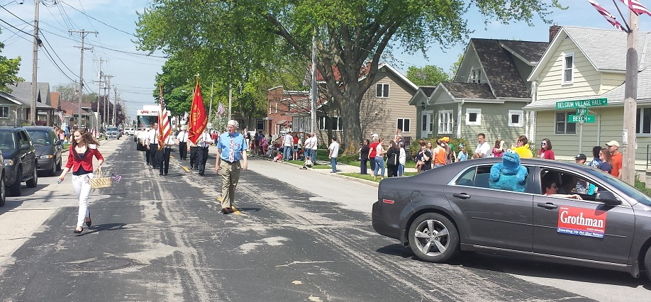 Glenn walking in a parade.