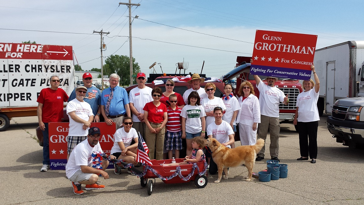 Glenn Grothman supporters at a parade!