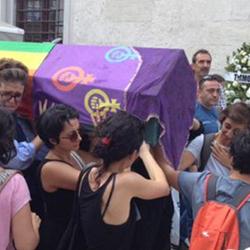 Turkey LGBT funeral procession