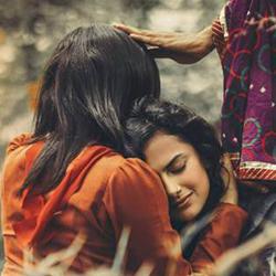 Indian lesbians embrace
