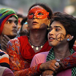 New Delhi LGBTI Flashmob Activists