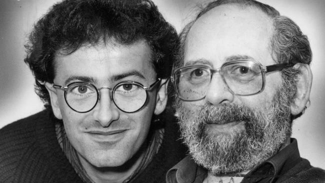 Andrew Denton with his father, Kit.