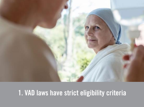 Voluntary assisted dying laws have strict eligibility criteria