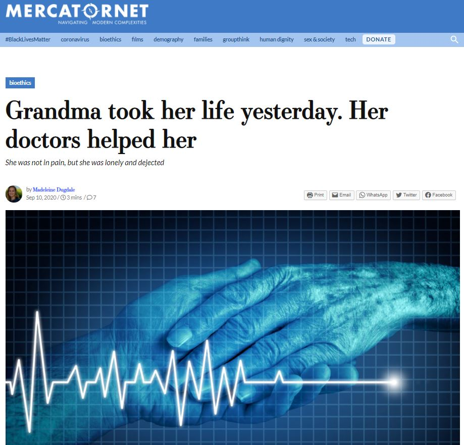 Grandma took her life yesterday