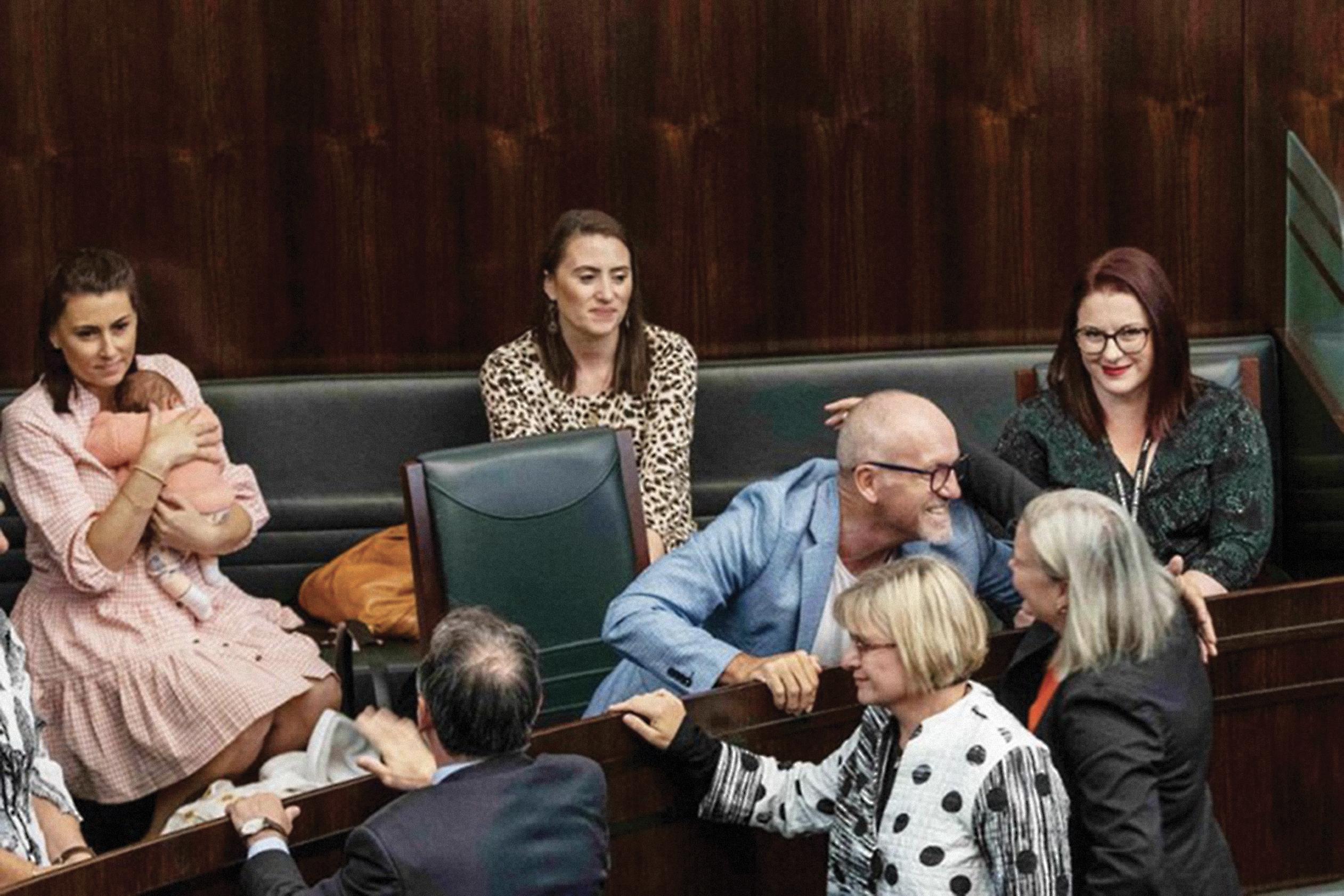 Celebratory scenes in Tasmania's Parliament