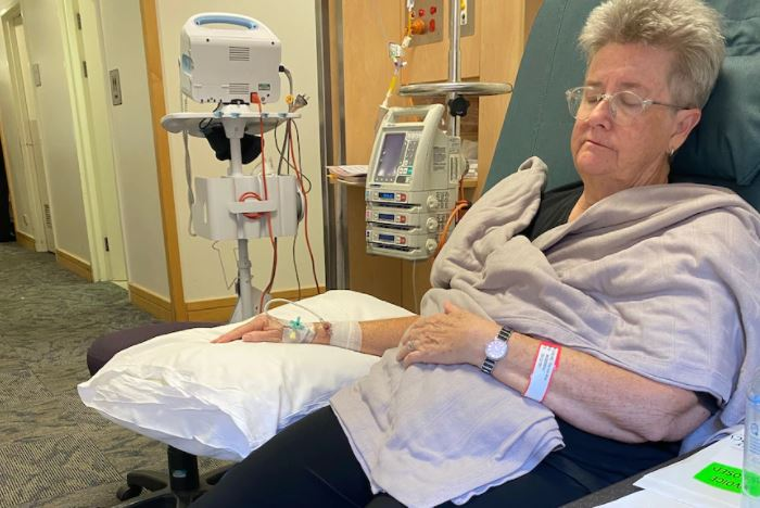 Therese undergoing chemotherapy