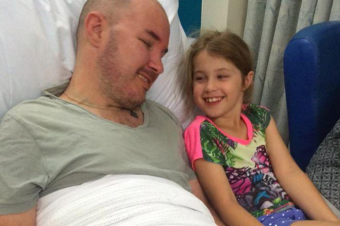Matt Downey with his daughter Sian