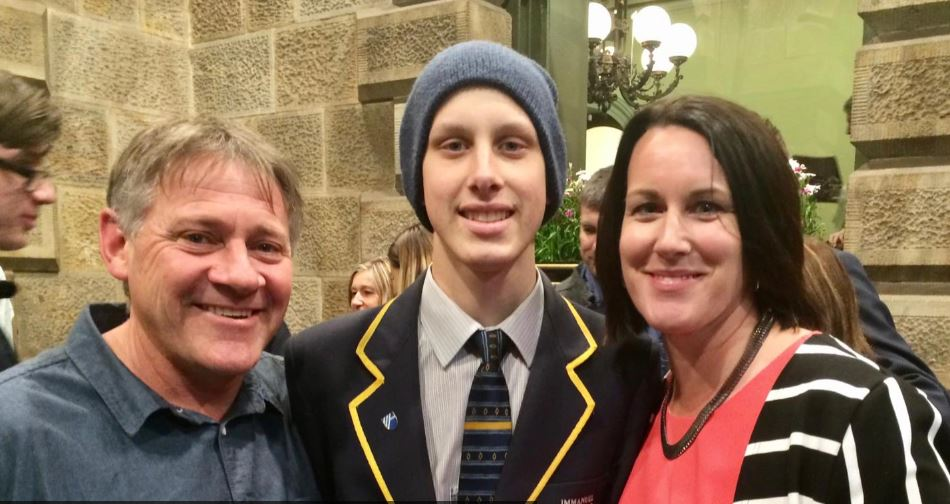 Rhys' doctor told him to forget year 12 and focus on his health