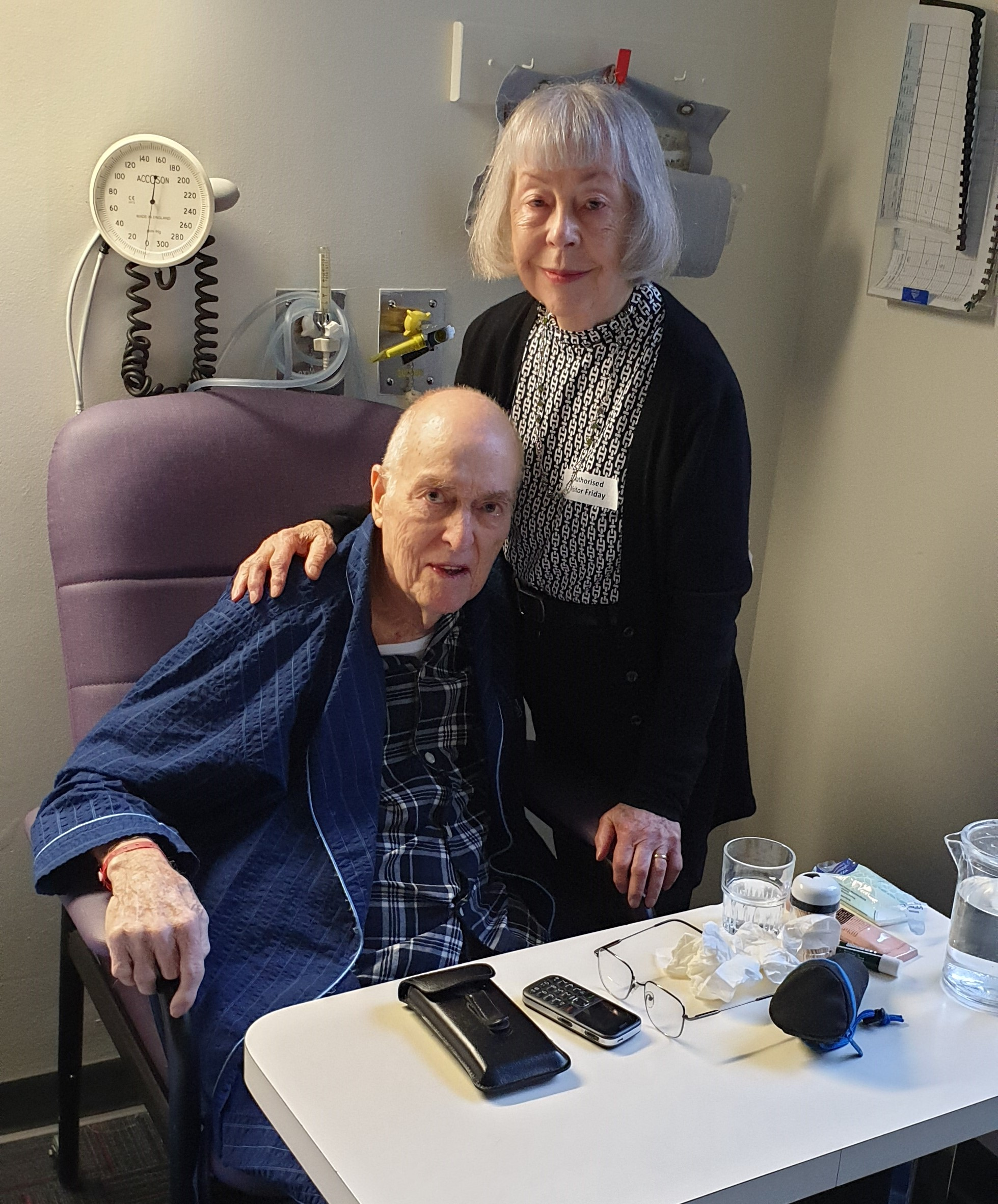 The final day: Martin with his wife Geraldine