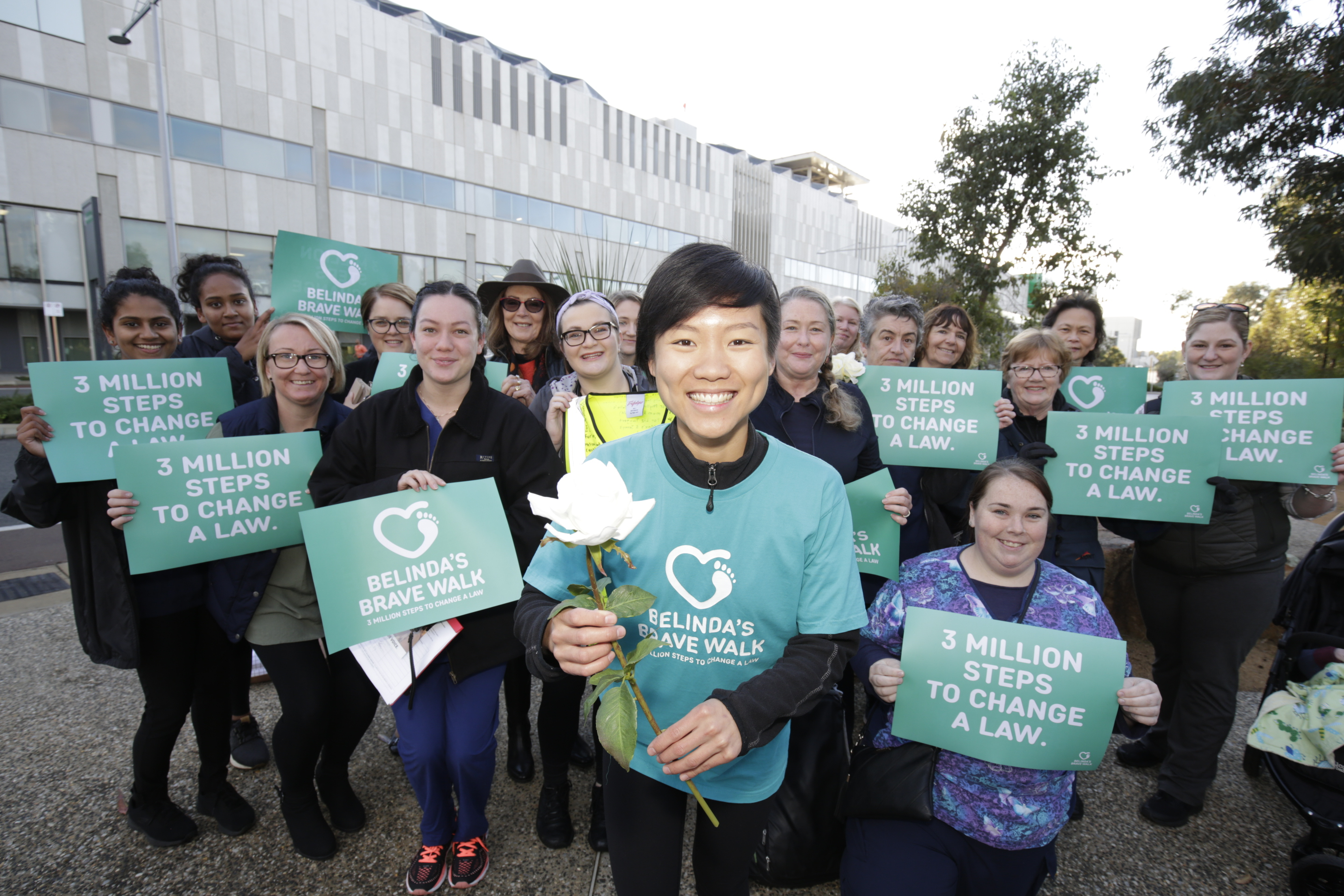 VAD supporters welcome advocate Belinda Teh to Perth