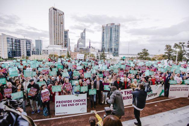 Perth VAD rally crowd