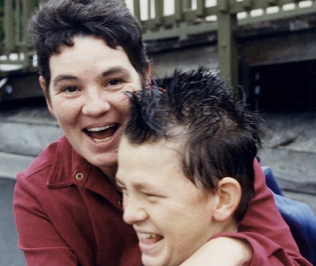 Rosie Mott with her son Kane