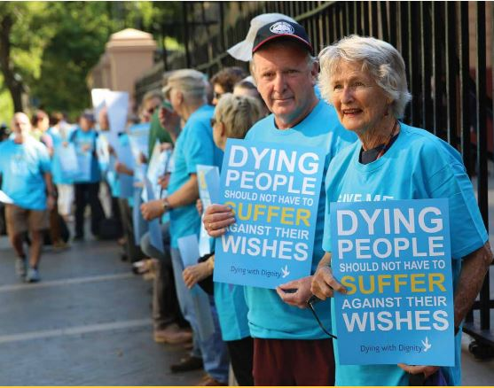 Voluntary Assisted Dying campaigners in Sydney