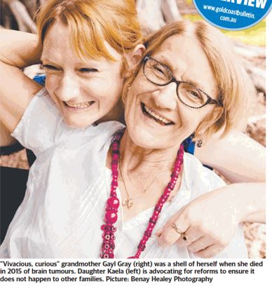 Gayl's story recently appeared in the Gold Coast Bulletin