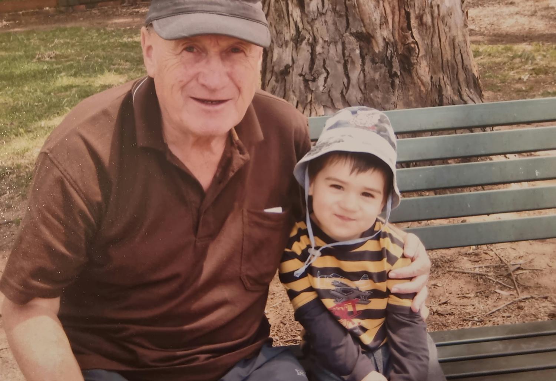 Allison Bowman's dad Stephen with his grandson William