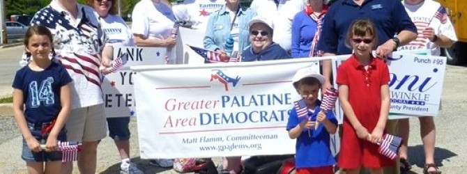 Palatine Area Democrats March in Memorial Day Parades