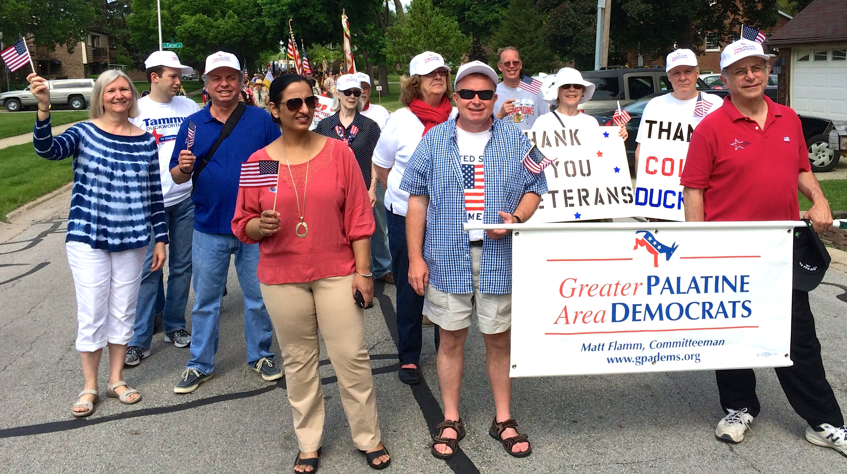 Palatine area Democrats march in Palatine's Memorial Day parade