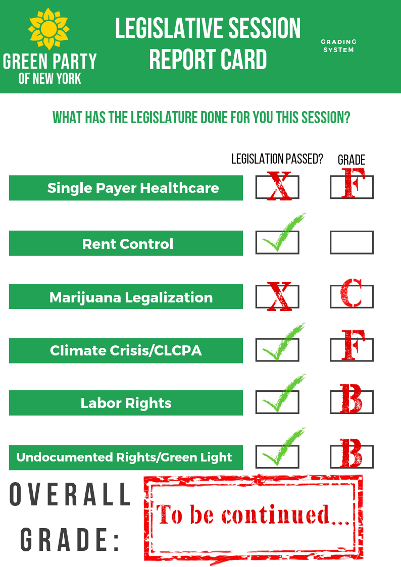 "Legislative Report Card Update: Marijuana Bill Gets a ""C"""
