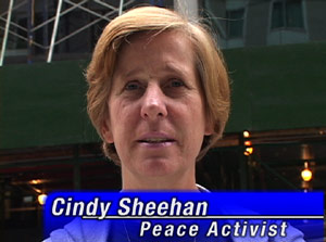 Cindy Sheehan Supports Malachy McCourt